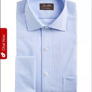 Tasso Elba NWT blue no-iron collar dress supima